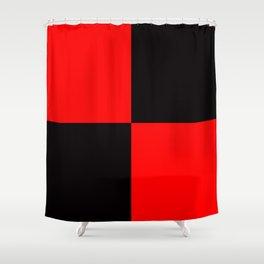 rot schwarz Shower Curtain