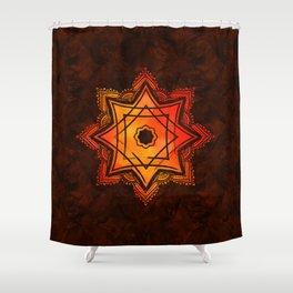 Watercolor Star of Lakshmi - Ashthalakshmi Shower Curtain