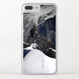 Mont Blanc Massif Clear iPhone Case