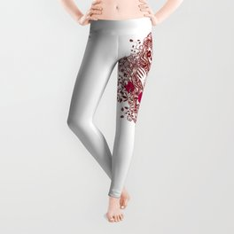 Sexy Woman zombie WITH Flower - Razzmatazz Leggings