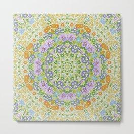Spring Mandala Metal Print