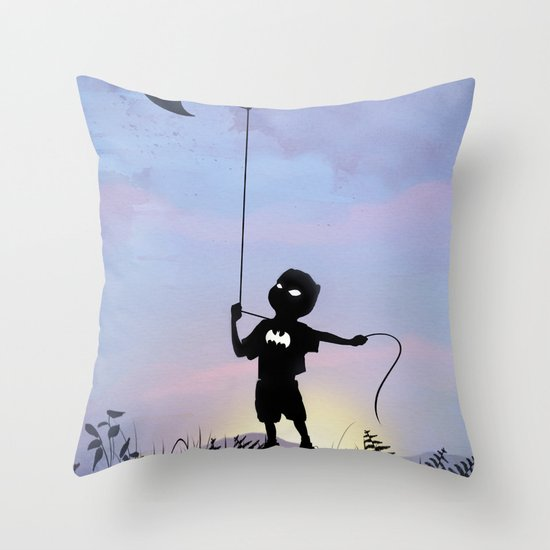 Bat Kid Throw Pillow