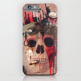 Capitalism Skull iPhone Case