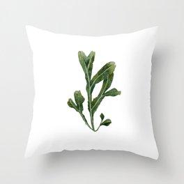 Green Seaweed Watercolor No. 1 Throw Pillow