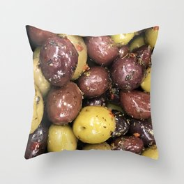 Exotic Olive Medley Marinated with Herbs Throw Pillow