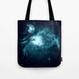 Teal Orion nebula : Hauntingly Beautiful Space Series Tote Bag