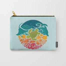 Aquatic Rainbow (light blue) Carry-All Pouch
