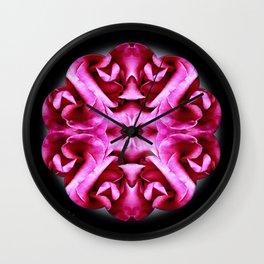 Pink Rose Mandala Wall Clock