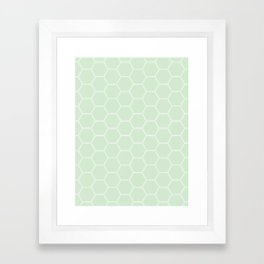 Honeycomb - Light Green #273 Framed Art Print