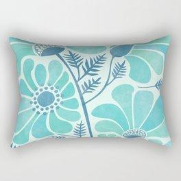 Himalayan Blue Poppies Rectangular Pillow