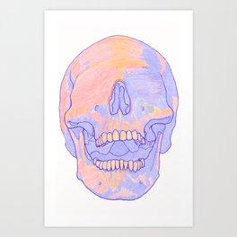 Blind Skull White Art Print