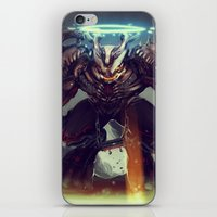 titan iPhone & iPod Skins featuring Titan Terrabreaker by Benedick Bana