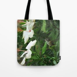 Lady Lurking in the Shade Tote Bag