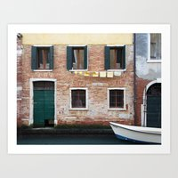 Out to dry in Venice Art Print