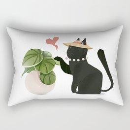 Cat playing Rectangular Pillow