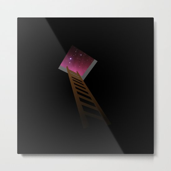 Escape to heaven - pink Metal Print