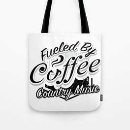 Coffee And Country Music Funny Musicians Gifts Tote Bag