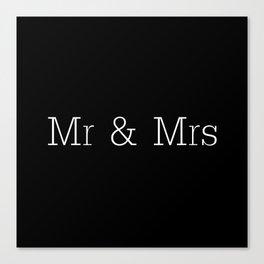 Mr & Mrs Monogram Standard Canvas Print