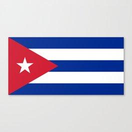 National flag of Cuba - Authentic HQ version Canvas Print