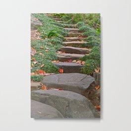 Arboretum Stepping Stones Metal Print