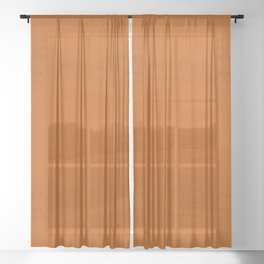 """""""Orange Burlap Texture Plane"""" Sheer Curtain"""