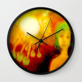 The lady and the spider Wall Clock