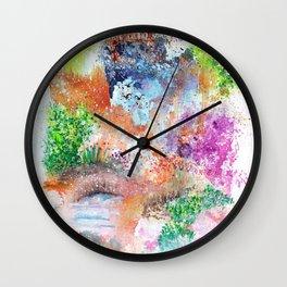 Magical Landscape Art Illustration Wall Clock