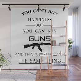 Happiness Guns Wall Mural