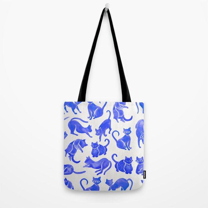 Cat Positions – Blue Palette Tote Bag