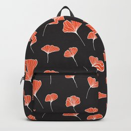 Ginkgo Biloba Leaves Pattern Dark #society6 #decor #buyart Backpack