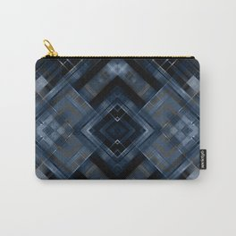 Abstract black blue pattern . Carry-All Pouch