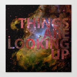 Galactic Positivity Wall Text Canvas Print