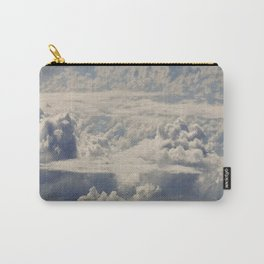 Magical White Cotton Clouds in Mystical Blue Sky Carry-All Pouch