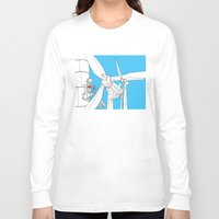 wind Long Sleeve T-shirts featuring Wind  by Jonas Ericson