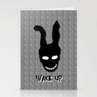 donnie darko Stationery Cards featuring Donnie Darko Wake Up by Grace