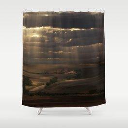 Sunny shower Shower Curtain