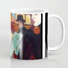 toulouse women black and white stripes Coffee Mug