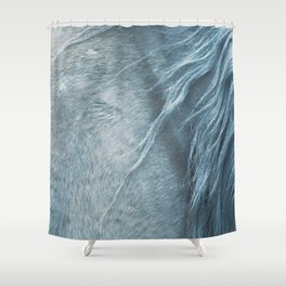 Wild horse photography, fine art print of the mane, for animal lovers, home decor Shower Curtain