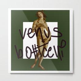 venus botticelli green forrest ed  Metal Print