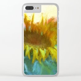Sunflower Glow Clear iPhone Case
