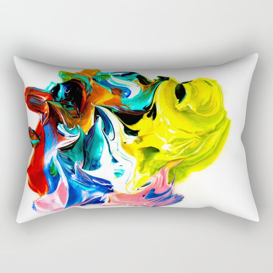 paint on a white background Rectangular Pillow