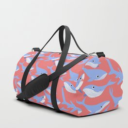 oh whale there's a shark among us Duffle Bag