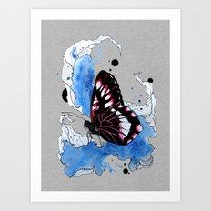 Butterfly III ink by carographic, Carolyn Mielke Art Print