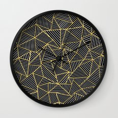Ab Out Double Repeat Black Wall Clock