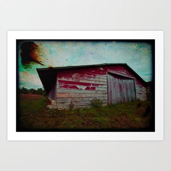 Chicken Barn Art Print