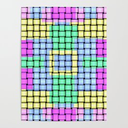 Beautiful Pastel Weave Texture Poster