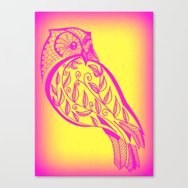owl sketch Canvas Print