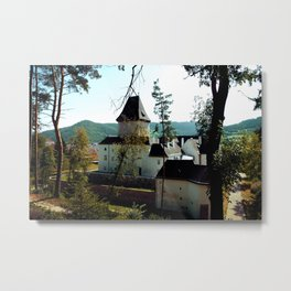 Castle Through the Trees Metal Print