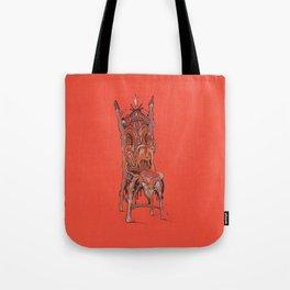 Orange Chair Melt Tote Bag