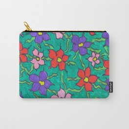 Sweet Floral Garden Carry-All Pouch